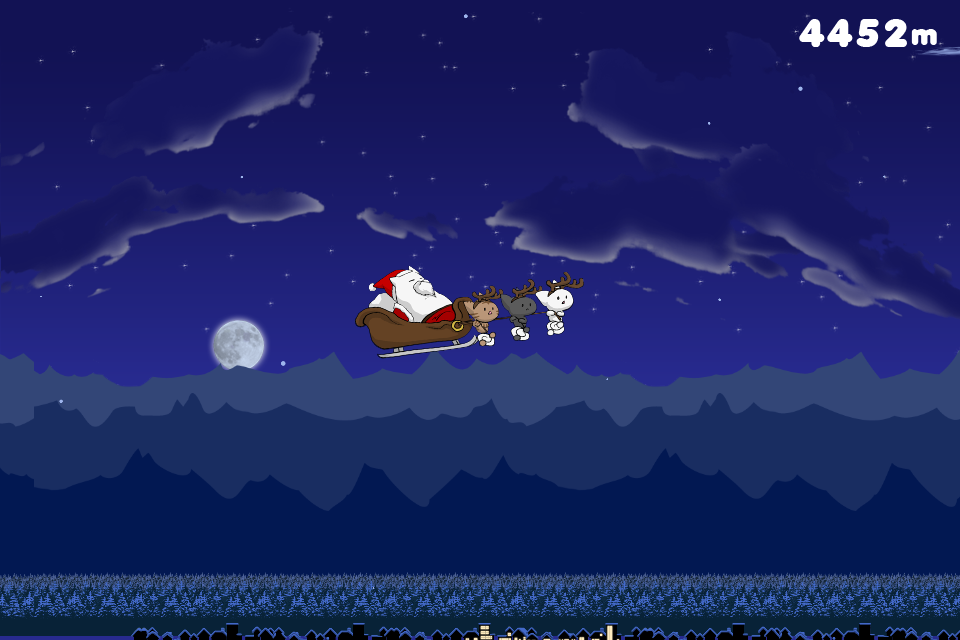 Screenshot Flying Santa Cat